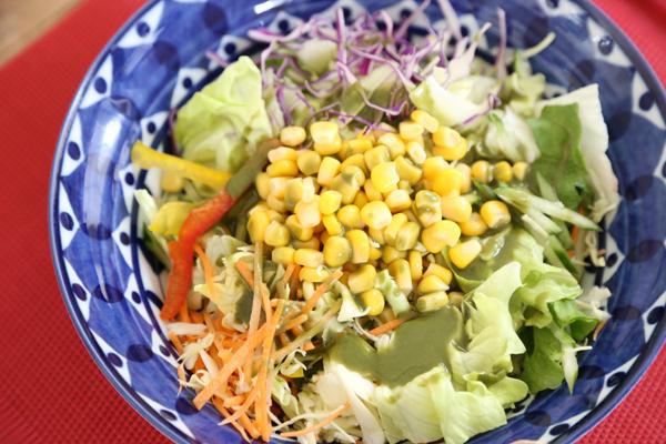 生青汁コーンサラダ2